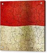 Grunge Indonesia Flag Acrylic Print
