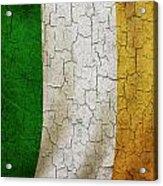 Grunge Ireland Flag Acrylic Print