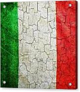 Grunge Italy Flag Acrylic Print