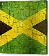 Grunge Jamaica Flag Acrylic Print