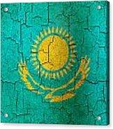 Grunge Kazakhstan Flag Acrylic Print