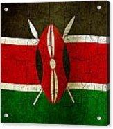 Grunge Kenya Flag Acrylic Print