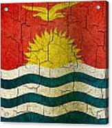Grunge Kiribati Flag Acrylic Print