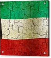Grunge Kuwait Flag Acrylic Print
