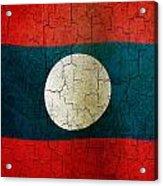 Grunge Laos Flag Acrylic Print