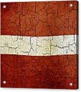 Grunge Latvia Flag Acrylic Print
