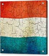 Grunge Luxembourg Flag Acrylic Print