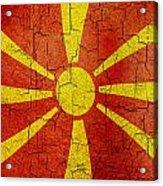 Grunge Macedonia Flag Acrylic Print