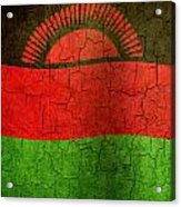 Grunge Malawi Flag Acrylic Print