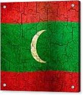 Grunge Maldives Flag Acrylic Print