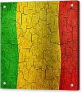 Grunge Mali Flag Acrylic Print