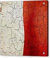 Grunge Malta Flag Acrylic Print