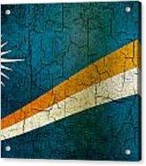 Grunge Marshall Islands Flag Acrylic Print