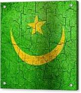 Grunge Mauritania Flag Acrylic Print