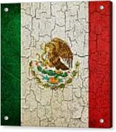 Grunge Mexico Flag Acrylic Print