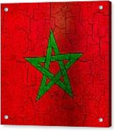 Grunge Morocco Flag Acrylic Print