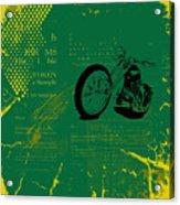 Grunge Motorcycle Background Vector Acrylic Print