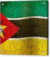 Grunge Mozambique Flag Acrylic Print