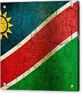 Grunge Namibia Flag Acrylic Print