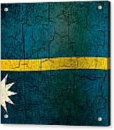 Grunge Nauru Flag Acrylic Print