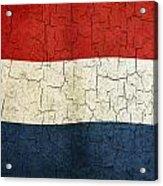 Grunge Netherlands Flag Acrylic Print