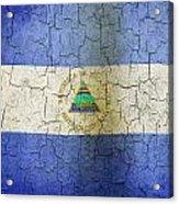 Grunge Nicaragua Flag Acrylic Print