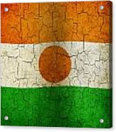 Grunge Niger Flag Acrylic Print
