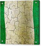 Grunge Nigeria Flag Acrylic Print