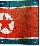 Grunge North Korea Flag Acrylic Print