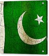 Grunge Pakistan Flag Acrylic Print
