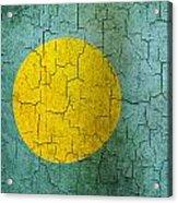 Grunge Palau Flag Acrylic Print