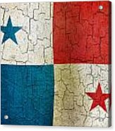 Grunge Panama Flag Acrylic Print