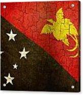 Grunge Papua New Guinea Flag Acrylic Print