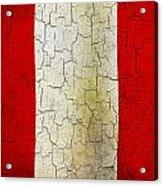 Grunge Peru Flag Acrylic Print