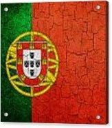 Grunge Portugal Flag Acrylic Print