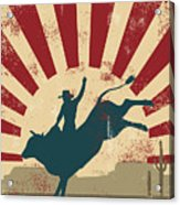 Grunge Rodeo Poster,vector Acrylic Print
