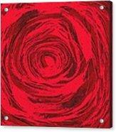 Grunge Rose Acrylic Print
