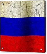 Grunge Russia Flag Acrylic Print