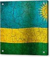 Grunge Rwanda Flag Acrylic Print