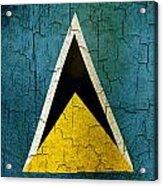 Grunge Saint Lucia Flag Acrylic Print