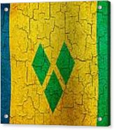 Grunge Saint Vincent And The Grenadines Flag Acrylic Print