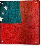 Grunge Samoa Flag Acrylic Print