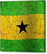 Grunge Sao Tome And Principe Flag Acrylic Print