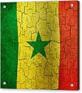 Grunge Senegal Flag Acrylic Print