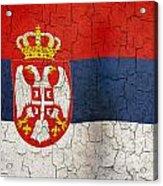 Grunge Serbia Flag Acrylic Print