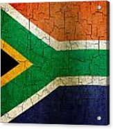 Grunge South Africa Flag Acrylic Print