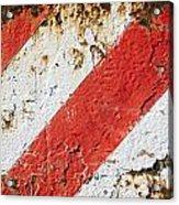 Grunge Stripe Background Acrylic Print