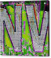 Grunge Style Denver Sign Acrylic Print