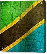 Grunge Tanzania Flag Acrylic Print