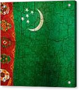 Grunge Turkmenistan Flag Acrylic Print
